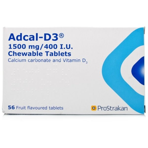Pack of 56 ProStrakan Adcal-D3 Chewable Tablets