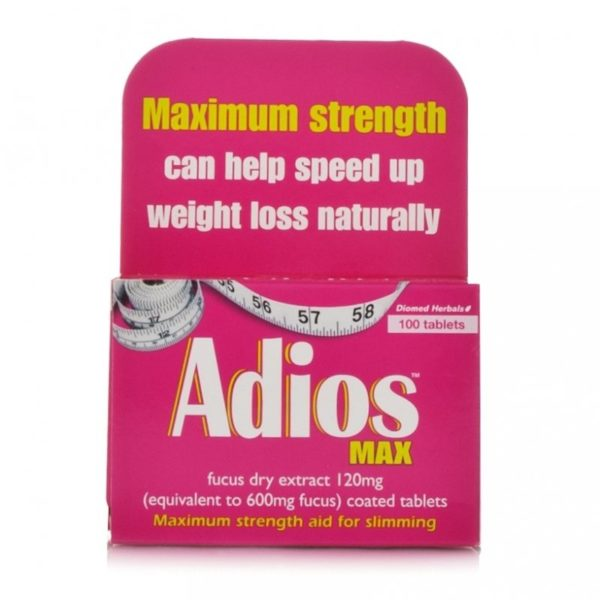 Box of 100 Adios Max Tablets