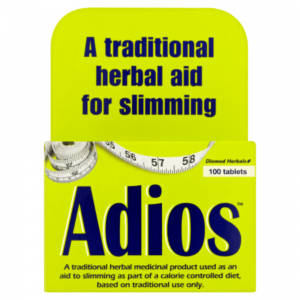 Box of 100 Adios Slimming Aid Tablets