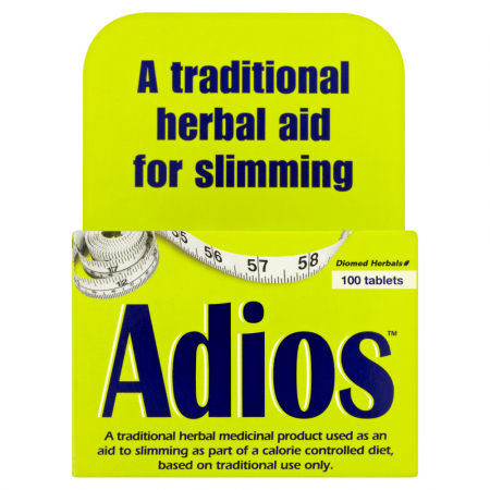 Box of 100 Adios Slimming Aid Tablets