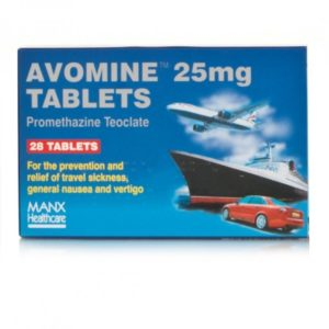 Pack of Avomine Tablets
