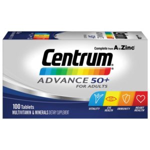 Box of 100 Centrum Advance 50+ Tablets