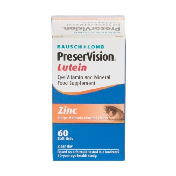 Pack of 60 Bausch and Lomb PreserVision Lutein Soft Gels