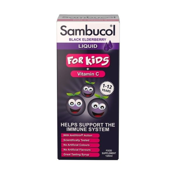 Bottle of 120ml Sambucol Black Elderberry Liquid
