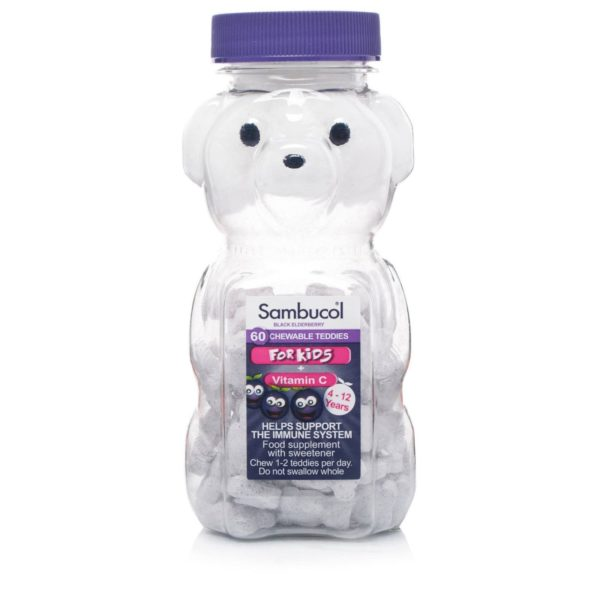 Pack of 60 Sambucol Chewable Teddies