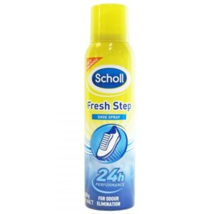 Bottle of Scholl Shoe Spray