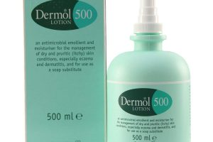 Bottle of Dermol 500 Lotion