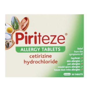 Pack of 30 Piriteze Allergy Tablets
