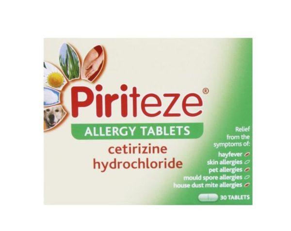 Pack of 30 Piriteze Allergy Tablets