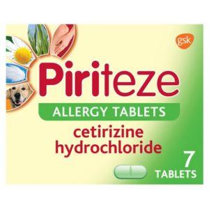 Piriteze Antihistamine Allergy Relief (Cetrizine) Tablets 7