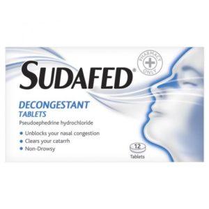 Sudafed Decongestant Tablets (12)