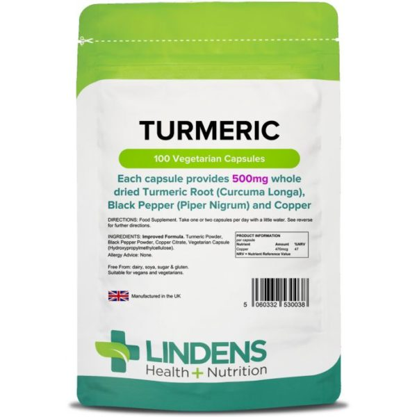 Turmeric 500mg with Black Pepper and Coppe Capsules