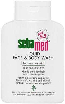 Bottle of Seba Med Face & Body Wash