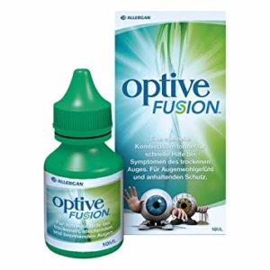Bottle of Optive Fusion Eye Drops