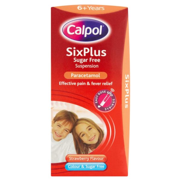 Calpol SixPlus Sugar Free Strawberry Suspension 200ml
