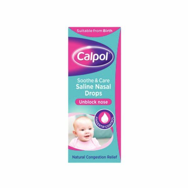 Calpol Soothe And Care Saline Nasal Drops 10ml