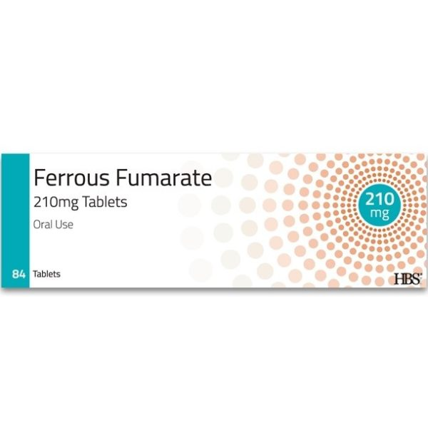 Pack of 84 HBS Ferrous Fumarate Tablets