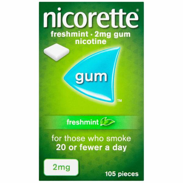 Nicorette gum mint 2mg 105