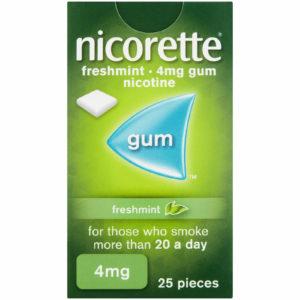 Nicorette gum mint 4mg 25
