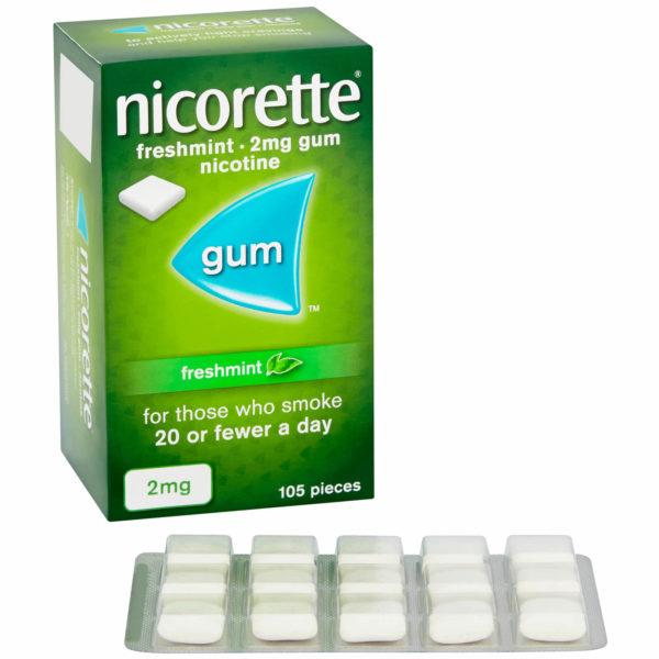 Nicorette gum mint 4mg 105