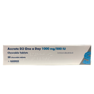 Accrete D3 chewable tablets