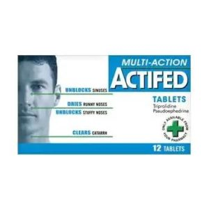 Actifed Multi Actioned Tablets 12