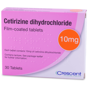 Cetirizine 10mg hay fever tablets