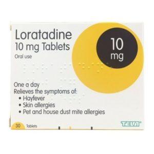 Loratadine 10mg Tablets 30 tablets (Brands May Vary)