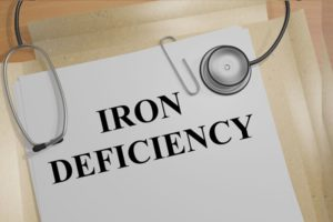 the words iron deficency written on a medical file - a blog about what happens when you're low on iron.